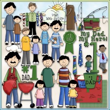 No. 1 Dad Clip Art - Father's Day Clip Art - CU Clip Art & B&W