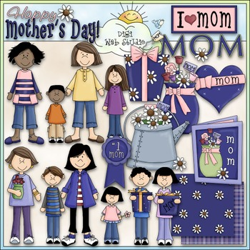 No. 1 Mom Clip Art - Mother's Day Clip Art - CU Clip Art & B&W