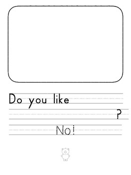No! A Sight Word Reader and Writing Book