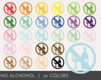 No Alchohol Digital Clipart, No Alchohol Graphics, No Alch