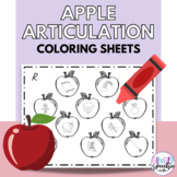 No Prep Apple Articulation Coloring: All Sounds