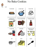 visual recipe for No Bake Cookies for students with disabi