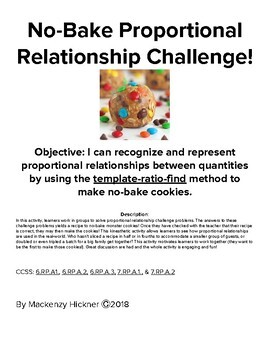 No-Bake Proportional Relationship Challenge!