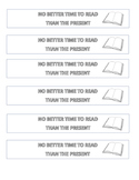 No Better Time To Read Than The Present Bookmark