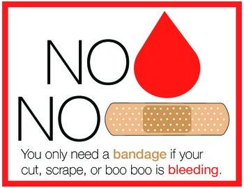 No Blood / No Bandage Poster