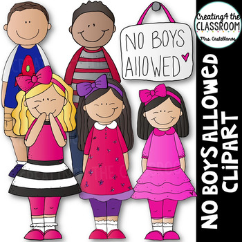 No Boys Allowed {Kids Clipart}