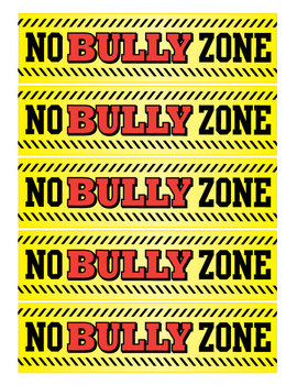 No Bully Zone bookmarks