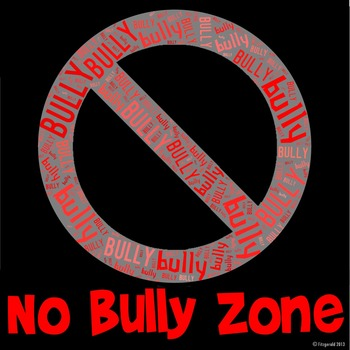 No Bully Zone image for Classroom Decoration Poster or Sign