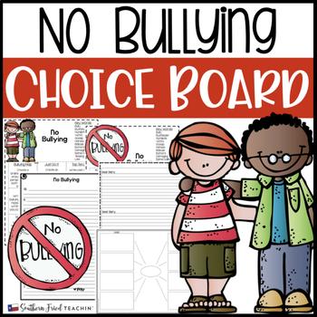 No Bullying Choice Board