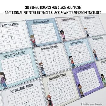 No Bullying Bingo
