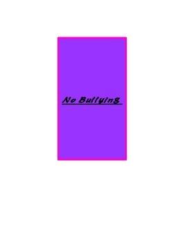 No Bullying BookMarks!!