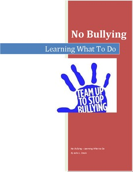 No Bullying - Learning What to Do