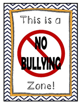 No Bullying Zone Poster ~ FREEBIE!!!!!