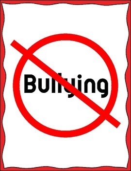 No Bullying Zone Sign