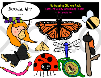 No Buzzing Clipart Pack