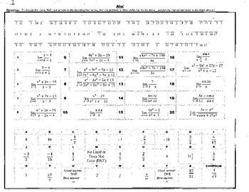 No Calc Calc Mathacrostics - an AB AP No Calculator Puzzle Book