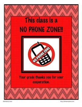 No Phone Zone Poster