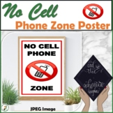 No Cell Phone Zone Poster 8.5 x14
