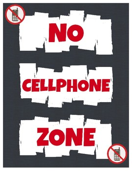 No Cellphone Zone Sign