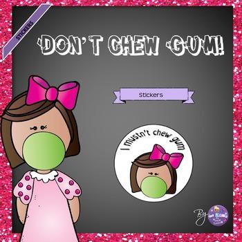No Chewing Gum Stickers - Freebie