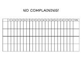 No Complaining Chart