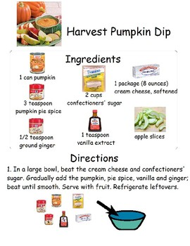 No Cook Visual Recipe-Harvest Pumpkin Dip
