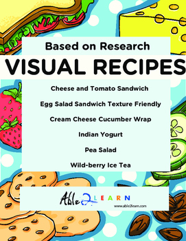 No Cook Visual Recipes for Youths with Autism/Special Ed Classroom Mega Pack 10