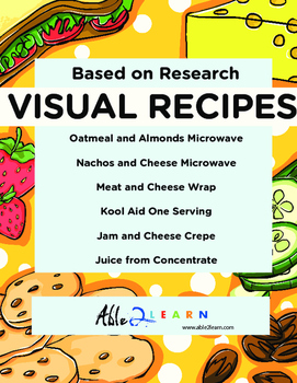 No Cook Visual Recipes for Youths with Autism/Special Ed Classroom Mega Pack 11