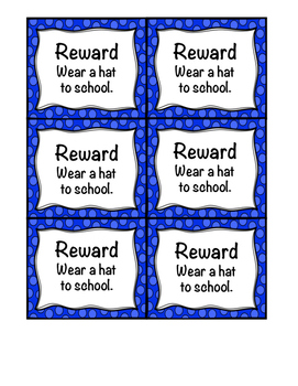 No Cost Classroom Rewards