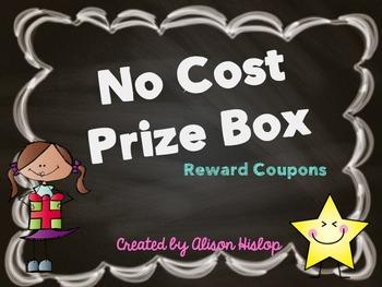 No Cost Prize Box - Reward Coupons