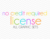 No Credit License ALL Graphic Sets
