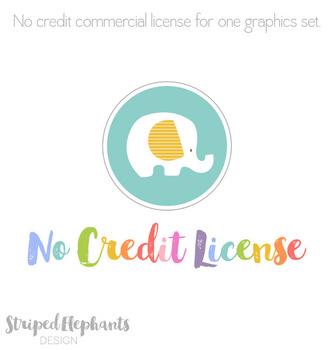 No Credit License For StripedElephants Graphics