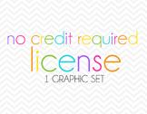No Credit License ONE Graphic Set