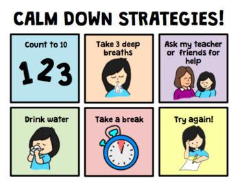 No Crying Social Story & Calm Down Strategies