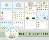 No Cut Busy Book | Busy Binder | Printable Activity for Toddlers Preschool
