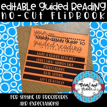 No-Cut Guided Reading Flipbook For Setting Up Small Group Expectations