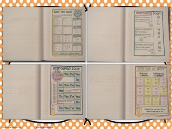 No-Cut Interactive Notebook {Math}: 2-Digit and 3-Digit Subtraction Edition