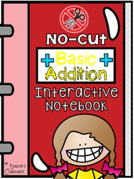 No-Cut Interactive Notebook {Math}: Basic Addition Edition