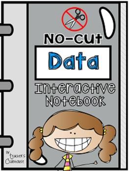 No-Cut Interactive Notebook {Math}: Data Edition