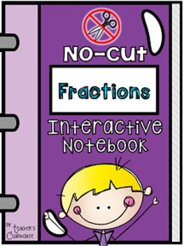 No-Cut Interactive Notebook {Math}: Fractions Edition