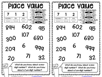 No-Cut Interactive Notebook {Math}: Place Value Edition