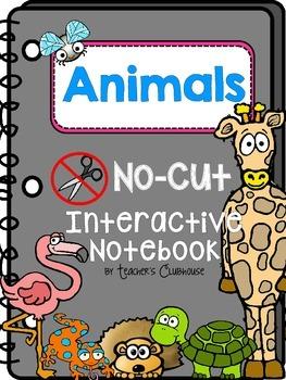 No-Cut Interactive Notebook {Animals}