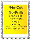 No-Cut No-Frills CKLA Tricky Word Cards- 2nd Grade