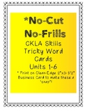 No-Cut No-Frills CKLA Tricky Word Cards- 2nd Grade