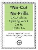 No-Cut No-Frills CKLA Spelling Cards- 2nd Grade