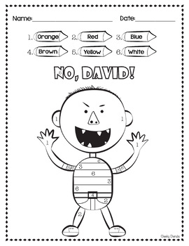 No David Activities by Cheeky