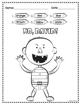 photograph relating to No David Printable named No David Functions Worksheets Academics Fork out Academics