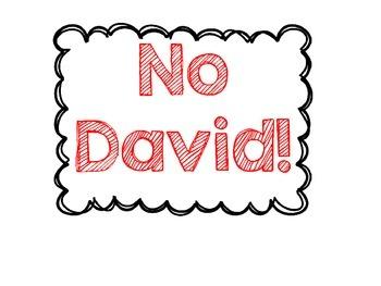 No David! Anchor Chart and Activities