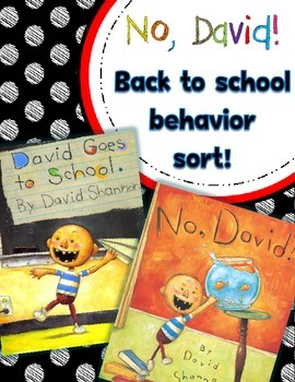 No, David!  Back to School Behavior Sort