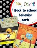 No, David!  Back to School Behavior Sort